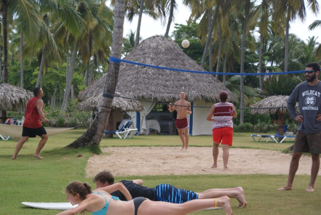 surf camp volleyball